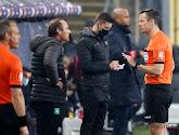 Yves Vanderhaeghe was boos om de eerste helft die Cercle Brugge speelde