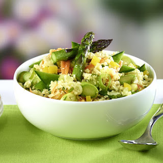 """Summer Veggie Fried Cauliflower """"Rice"""""""