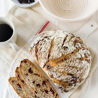 No-Knead Pine Nut Cherry Harvest Bread Recipe
