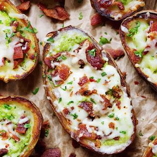 Cheesy Bacon & Kale Potato Skins