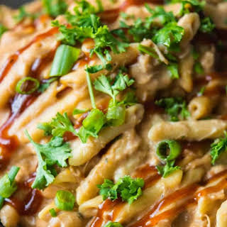 Slow Cooker Barbecue Chicken Pasta.