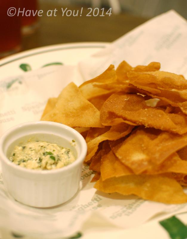 fried wonton wrappers with spinach cheese dip