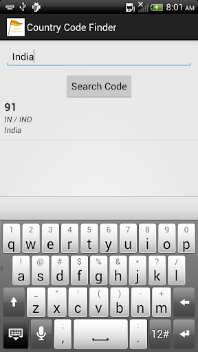 Country Code Finder