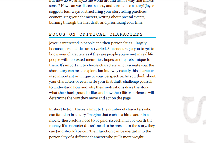 Joyce Carol Oates Masterclass Review - Focus on critical characters