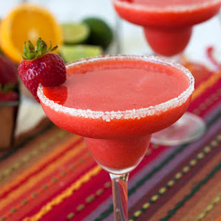 Frozen Virgin Strawberry Margarita.