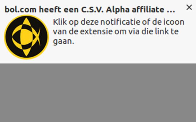 C.S.V. Alpha Sponsor Extensie