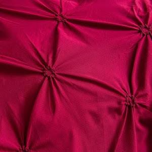 Lenjerie de pat Premium, 6 piese, finet, 200x220 cm, ROSU