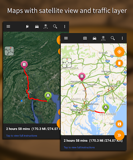 Driving Route Finderu2122 - Find GPS Location & Routes 2.4.0.3 screenshots 14