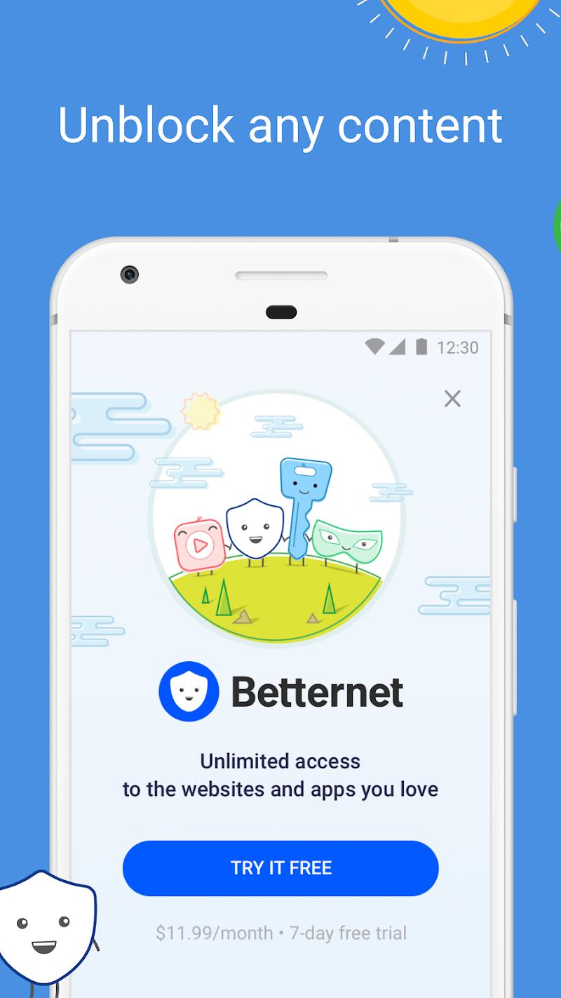VPN Free - Betternet Hotspot VPN & Private Browser Screenshot