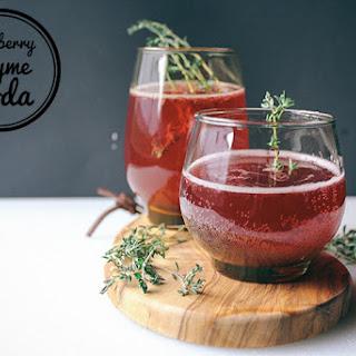 Blueberry Thyme Soda Recipe