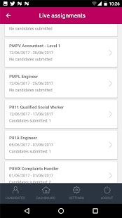 Retinue Client app - náhled