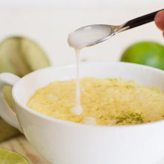 Gluten Free Dairy Free Lime Mug Cake.