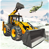 Off road Heavy Excavator Animal Rescue Helicopter