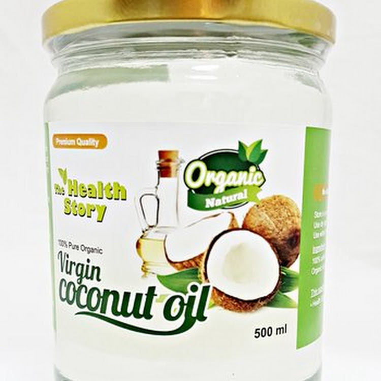 The Health Story Virgin Coconut Oil ( 500ml glass jar)