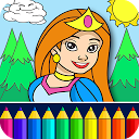 Princess Coloring Game mobile app icon