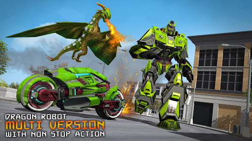 Deadly Flying Dragon Attack : Robot Games apkpoly screenshots 2