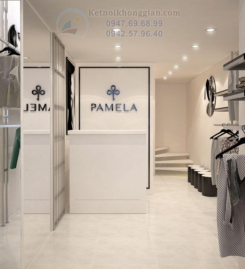 thiết kế shop thời trang nữ nhỏ hẹp song có chiều sâu