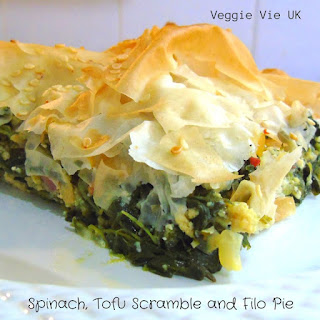 Spinach and Tofu Scramble Filo Pie.