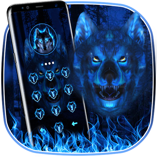 3D Ice Wolf - Lock Theme Icon