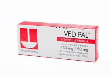Vedipal 450/50Mg Com.   Caja x30Com. Tecnofarma Diosmina Hesperidina