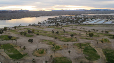 Photo: Sketchy golf course on the island
