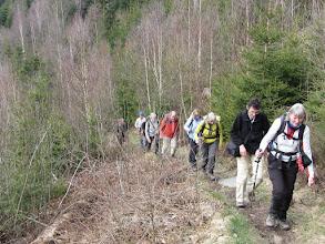 Photo: Klim naar de Ehrensteinley, een rots hoog boven de Rur