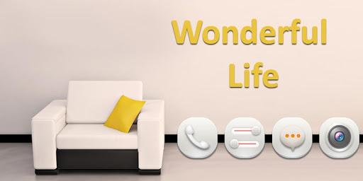 美好的夢想生活和舒適的沙發桌面主題