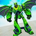 Flying Dragon Robot Transforming Dragon Games icon