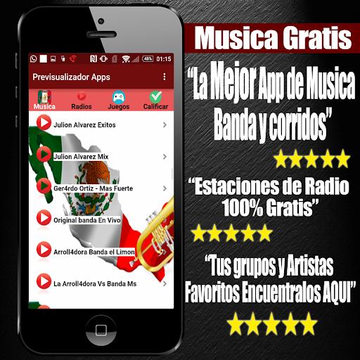 Musica Banda y Corridos Gratis 1.11 screenshots 1