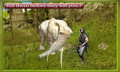 Ninja Hunter: Jungle animals