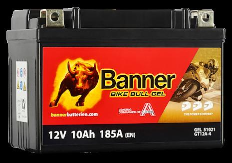 Banner Mc Batteri AGM YTX12-BS 12V 10Ah