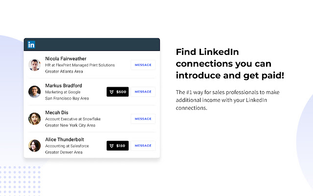 Bravado Warm Intros - Get Paid on LinkedIn