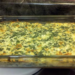 Spinach Casserole (low fat and low carb)