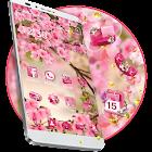 Thème de fleur d'été rose icon