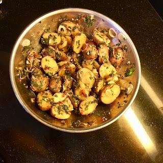 Spicy Thai Basil Potatoes.
