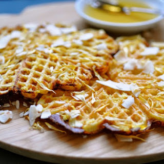 Almond Waffles with Lemon & Chia Seeds