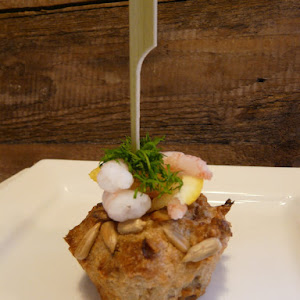 Smorbrod' Danish-Style Smoked Salmon, Hazelnut, and Sunflower Seed Muffins