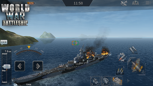 Télécharger World War Battleship- Agression Marin Jeu de tir APK MOD (Astuce) screenshots 1