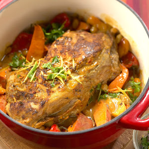 Moroccan-Style Pork Shoulder Roast