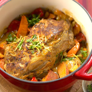 Moroccan-Style Pork Shoulder Roast.
