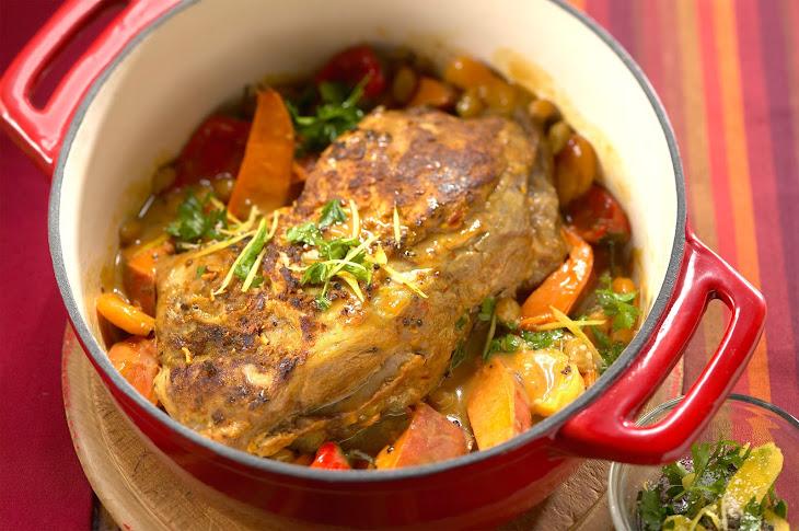 Moroccan-Style Pork Shoulder Roast Recipe