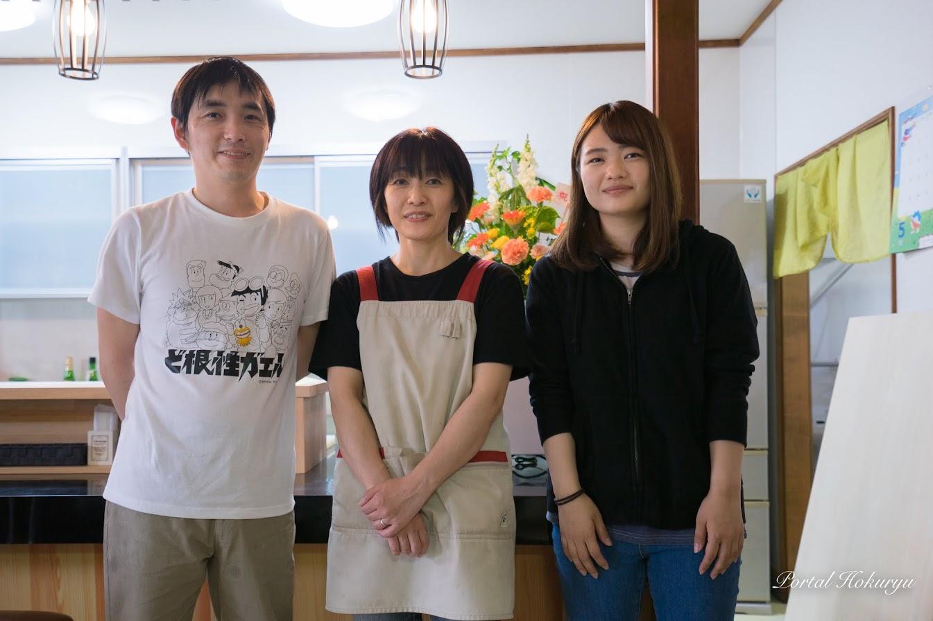 左から:佐藤光男さん、奥様・裕子さん、娘さん・三奈さん