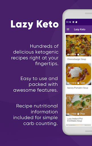 Screenshot for Lazy Keto - Easy Low Carb Keto Diet Recipes in United States Play Store