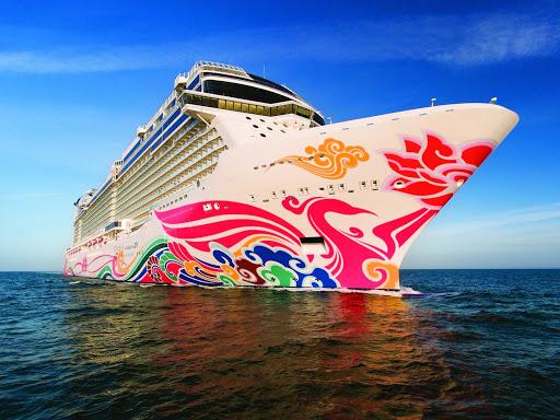 norwegian-joy-closeup.jpg - Sail to Alaska or Mexico on the new smartship Norwegian Joy.