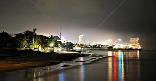 Balikpapan Beach In The Night Beaches Landscapes Pixoto
