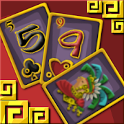 Two Temple Solitaire Card Game