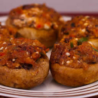 Stuffed Mushrooms Recipe with Feta Cheese and Kalamata Olives