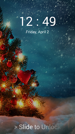 Christmas pin screen lock