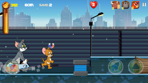 Adventure Tom and Jerry Run: Escape from Alien 1.0 screenshots 2