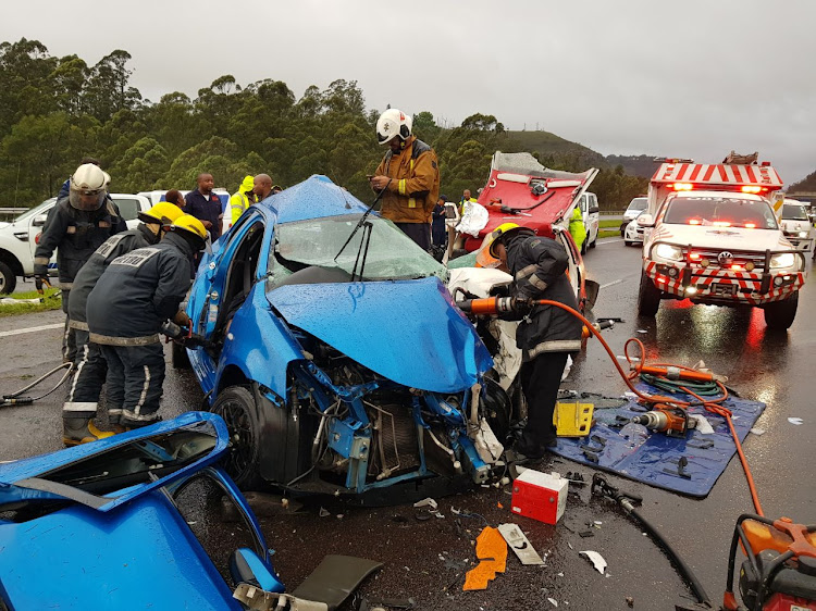 Five people were killed in a car accident on the N3 near Shongweni' west of Durban.